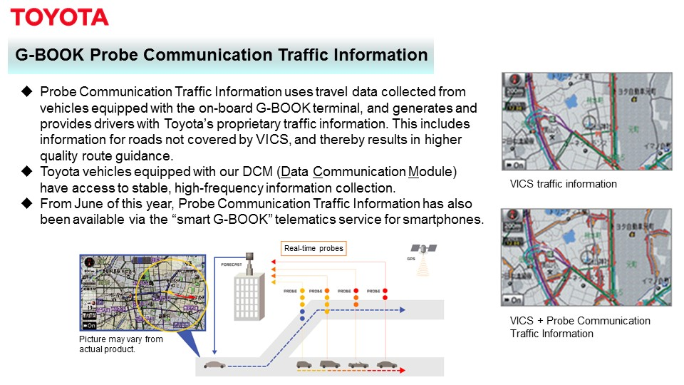 G-BOOK Probe Communication Traffic Information